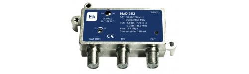 Amplificadores SAT con mezcla TER